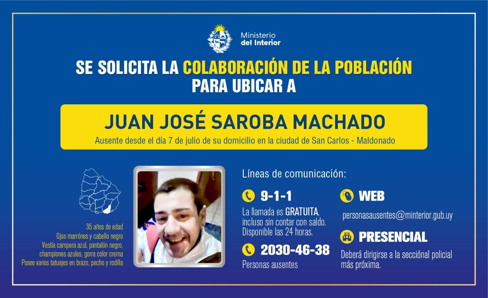 Jefatura de Maldonado solicita la colaboración de la población